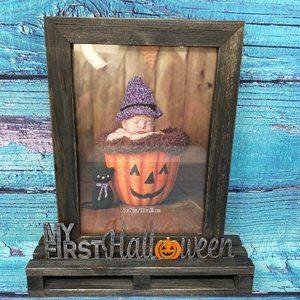 """My First Halloween"" 5"" x 7"" Wooden Picture Frame"